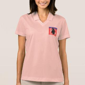 Eagle on Flag Polo T-shirt