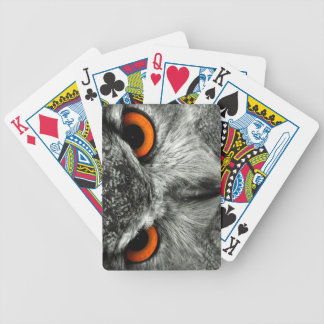 Eagle Owl Bicycle Playing Cards