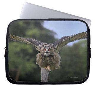Eagle Owl (Bubo bubo) Laptop Sleeves