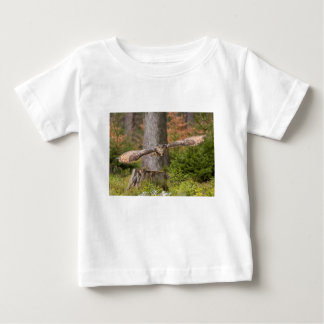 Eagle Owl in Flight Baby T-Shirt