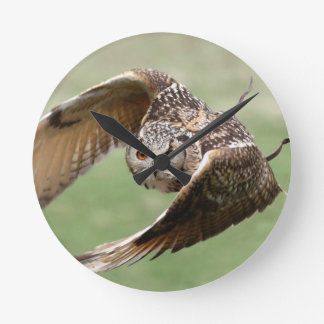 Eagle Owl In Flight Clock