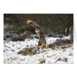 Eagle Owl in Flight Greeting Card