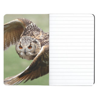 Eagle Owl In Flight Journal