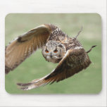 Eagle Owl In Flight Mouse Pads