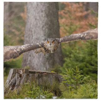 Eagle Owl in Flight Napkin