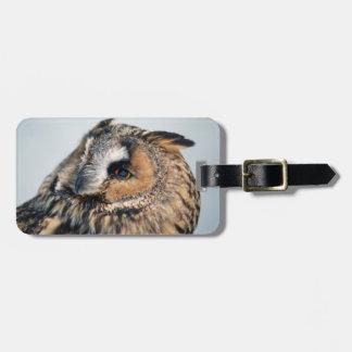 Eagle Owl Luggage Tag