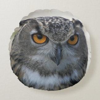 Eagle Owl Photo Round Cushion