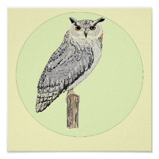 Eagle Owl poster, or print.
