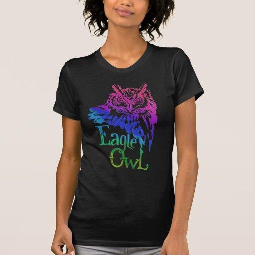 Eagle Owl Rainbow Tees