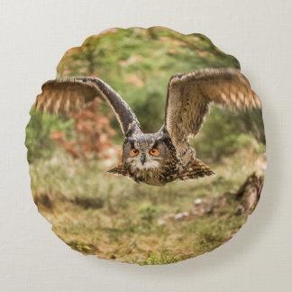 Eagle Owl Round Cushion