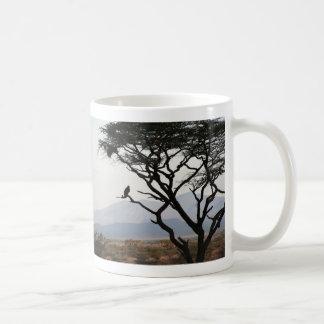 Eagle Owl Silhouette Coffee Mugs