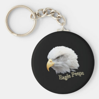 Eagle Peeps Basic Round Button Key Ring