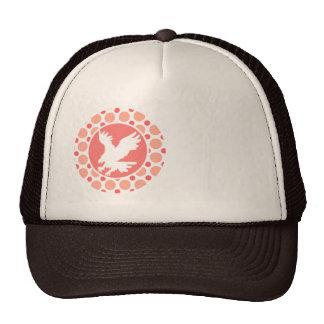 Eagle; Pink & Coral Polka Dots Cap