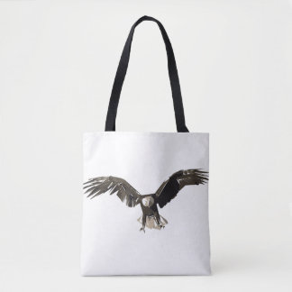 Eagle polygon art illustration tote bag