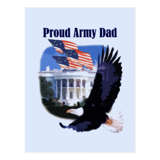 Eagle Proud Army Dad Tshirts and Gifts Postcards