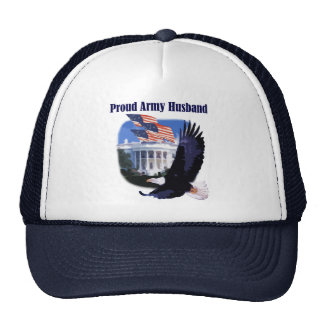 Eagle Proud Army Husband Tshirts and Gifts Hat