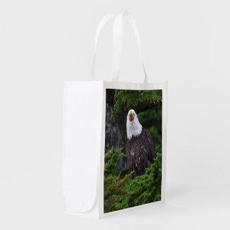 eagle reusable grocery bag
