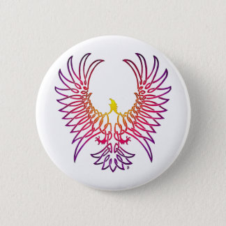 eagle rising, sunglow 6 cm round badge
