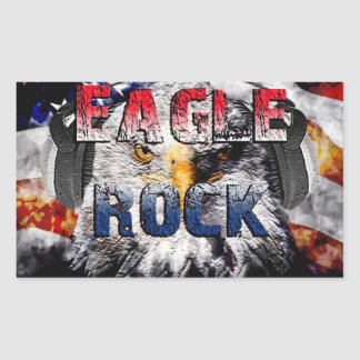 Eagle Rock2 Rectangular Sticker