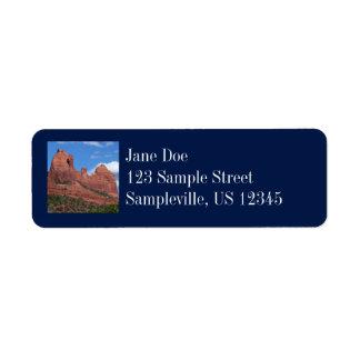 Eagle Rock I Sedona Arizona Travel Photography Return Address Label