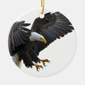 Eagle Round Ceramic Decoration