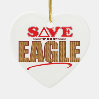 Eagle Save Ceramic Heart Decoration