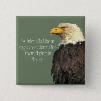 Eagle saying square button