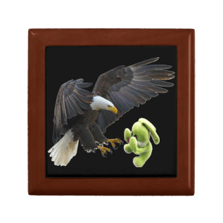 Eagle scares to a teddy gift box