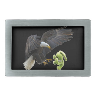Eagle scares to a teddy rectangular belt buckles