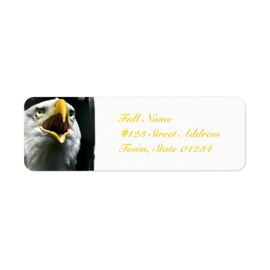 Eagle Screach  Mailing Labels