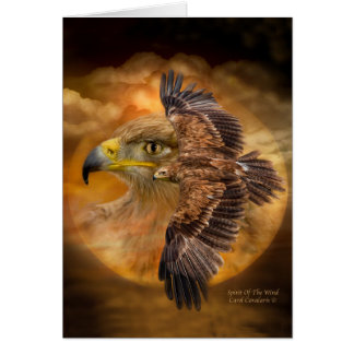Eagle-Spirit Of The Wind ArtCard Greeting Card
