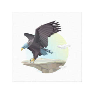 Eagle stand canvas print