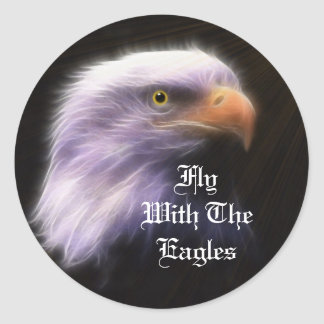 Eagle Round Stickers