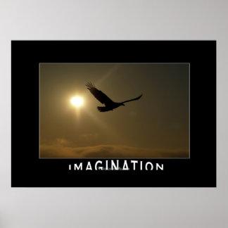 Eagle & Sun IMAGINATION Motivational Photo Print