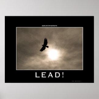Eagle & Sun LEADERSHIP Motivational Photo Poster