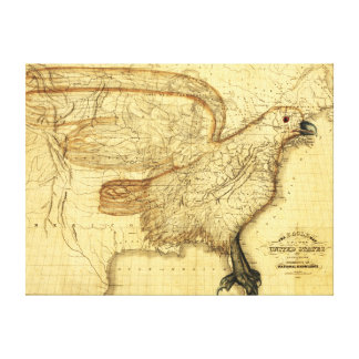 Eagle Superimposed on the United States Canvas Print