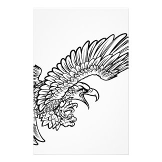Eagle Swooping from the Side Customized Stationery