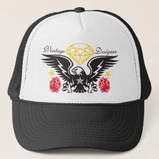 Eagle Tattoo  Diamonds and Roses Vintage Desi Trucker Hat