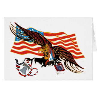 Eagle-Tea-Part-Ver-4 Greeting Card