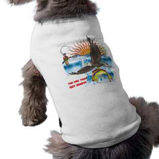 Eagle-Thief-3-Text-2 Sleeveless Dog Shirt