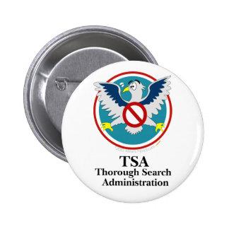 Eagle TSA Funny Cartoon (Touch My Junk) 6 Cm Round Badge