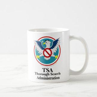 Eagle TSA Funny Cartoon (Touch My Junk) Basic White Mug