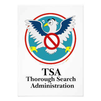 Eagle TSA Funny Cartoon Touch My Junk Personalized Invitation