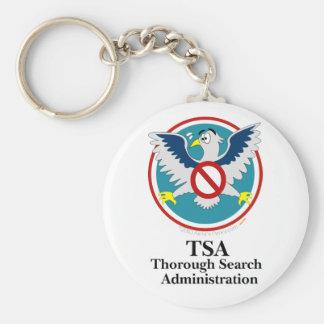 Eagle TSA Funny Cartoon (Touch My Junk) Basic Round Button Key Ring