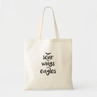 eagle typography art tote bag