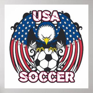 Eagle USA Soccer Poster