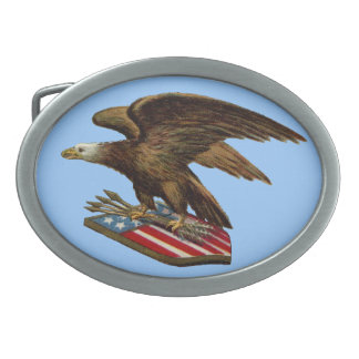 Eagle with Arrows on Shield Belt Buckles