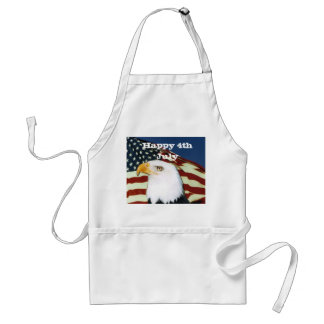 Eagle with flag, Happy 4th July Standard Apron