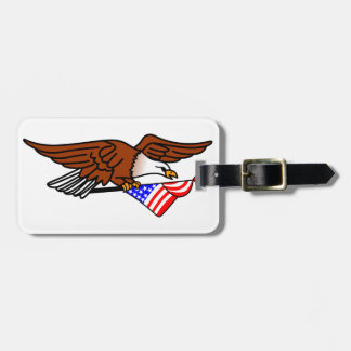 Eagle with Flag Tags For Luggage