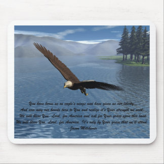 Eagle with Poem Mouse Pad